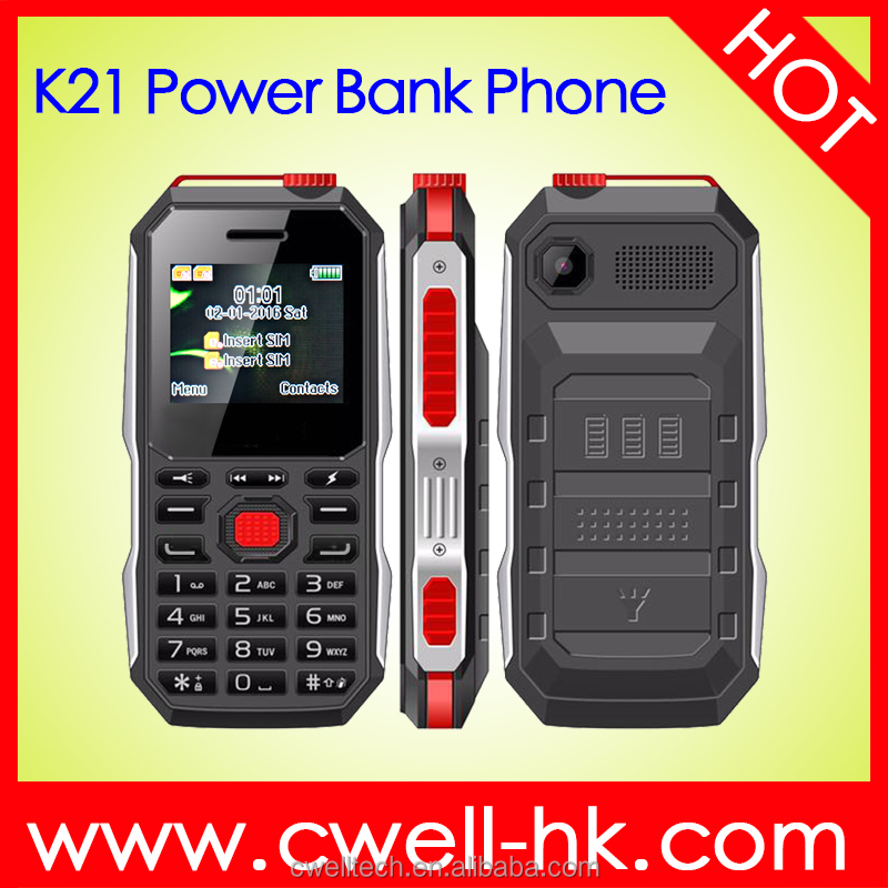 New product 1.77 inch dual sim big battery power bank feature phone with Powerful E-Torch