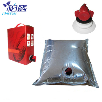 Customized 2L~22 L   bags  in box   aluminum foil packaging bag with spout   10  liter wine  bag in box