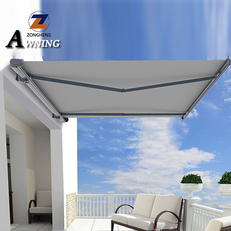 Factory Price Remote Control Motorized Full Cassette Retractable Aluminum 4m Awning