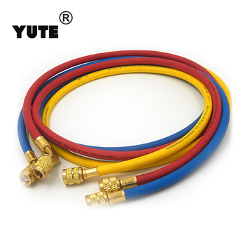 sae j2888 3 colors nylon manifold gauge charging+hose with ul