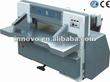 Microcomputer single hydraulic double guide paper guillotine / paper cutting machine / paper cutter