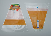 Plastic triangle sandwich packaging bag