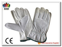 High quality cow split working leather gloves