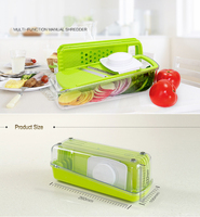 Multi-Function Vegetable and Fruit Cutter with S/S Blades
