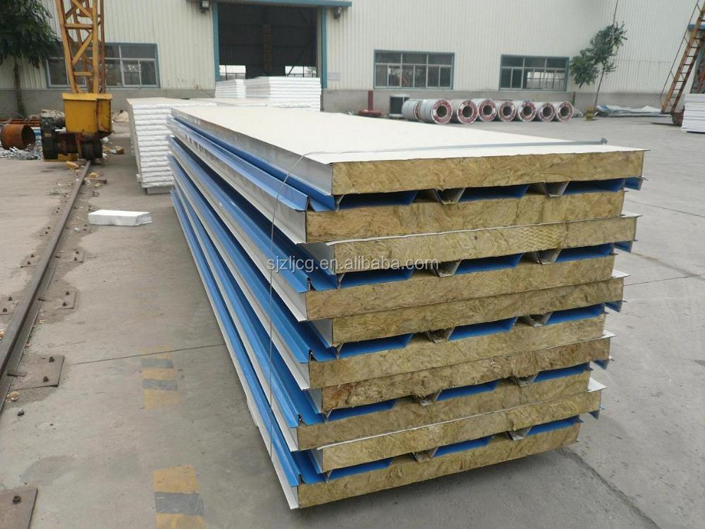 Fireproof rockwool sandwich panel roof panel price buy for Fireproof rockwool