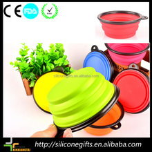 2016 Hot Sale Colorful /candy color Unbreakable Silicone heated pet bowl/dog feeder/pet feeder