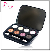 Hot sale french cosmetics brands 8 colors waterproof Shine eyeshadow palette