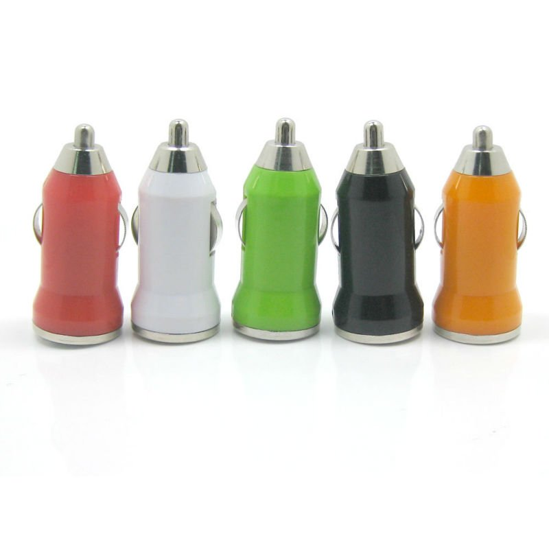 mini USB car charger with output 1A, 2A