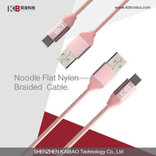 Hot selling Nylon Braided Micro USB 2.0 charge cable suit for Android phone