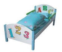Cartoon baby single bed,wooden baby bed for kindergarten and family