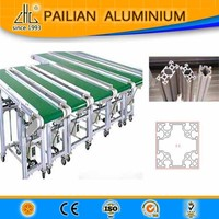 6063 anodized shining profiles / extrusion work shop profiles / aluminum frame profiles for door, aluminum track for window