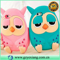 cute owl soft 3d silicon animal case for iphone 5c