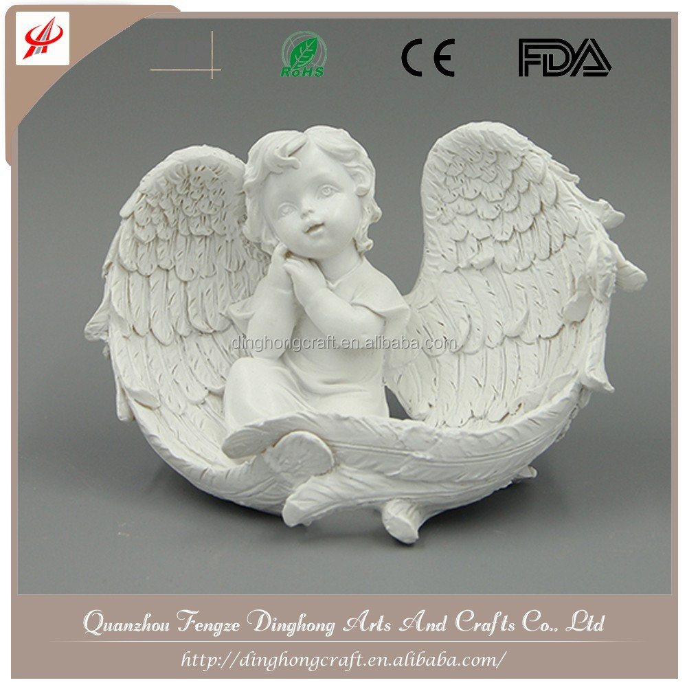 Wholesale Resin Angel and Cross Religious Crafts Angel Doll