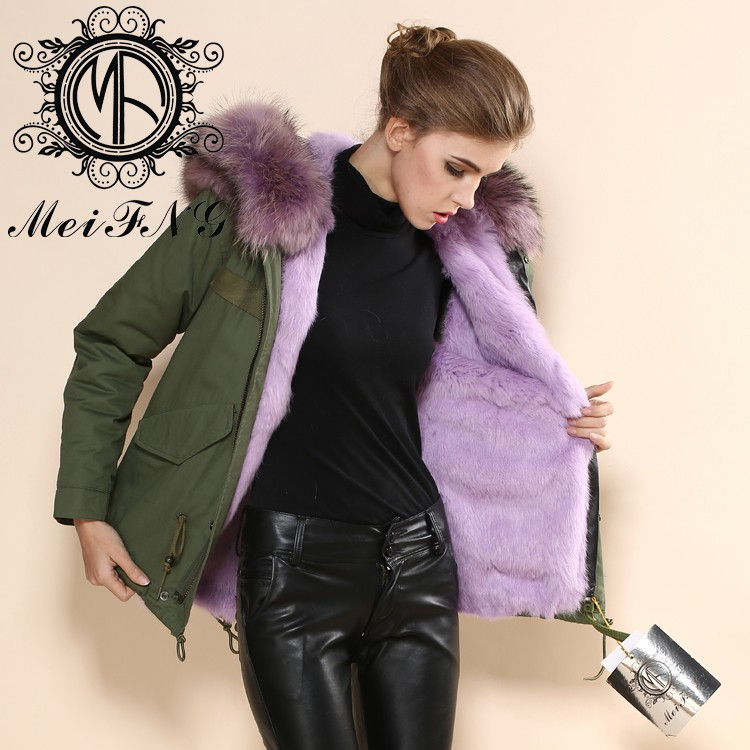 2017 european clothing Female fashion fine cotton women's warm winter fur coat factory S-4XL cloth