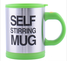 Wholesale logo design service high quality auto self stirring coffee cup stainless steel mug