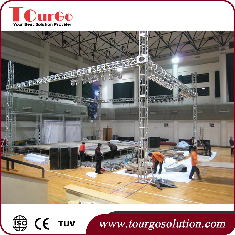 Tourgo Widely Used Aluminium Business Show Stage Door Truss for Activities