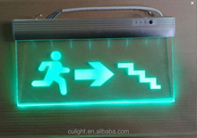 Best quality Emergency Exit Sign Rechargeable Emergency Lightand Fire Safety Sign