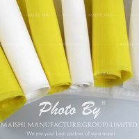 Polyester screen mesh for glaze printing