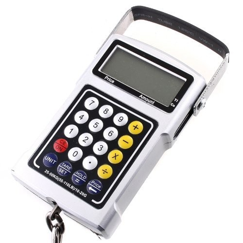 Multifunction Digital Hanging Scale 50kg 20g Electronic Portable Luggage Hook Scale Calculator Thermometer Tape Weight Balance