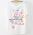 China alibaba woman t shirts batwing sleeve love heart summer ladies fashion new t-shirt