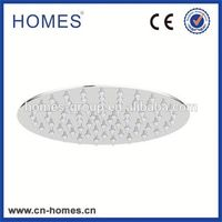 Bathroom Adjustable Fixed Wall Shower Head, Plastic With Chrome Finish