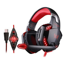 USB 7.1 wired stereo Gaming Headphone for Computer,Gaming Headband Headset with Mic LED for PSP/PS3/PS4