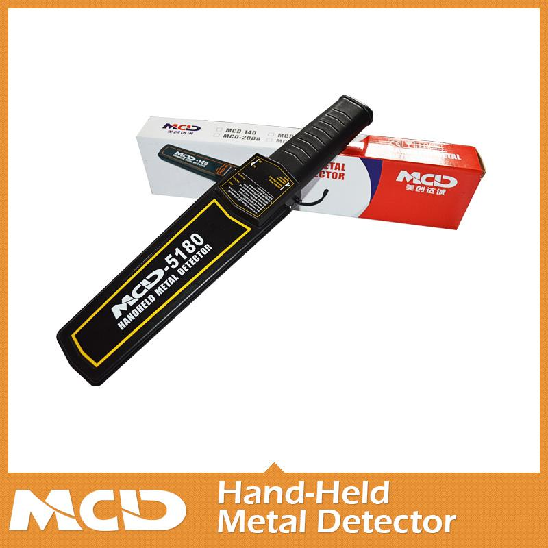 Airport Hand-held metal detector security scanner with high sensitivity