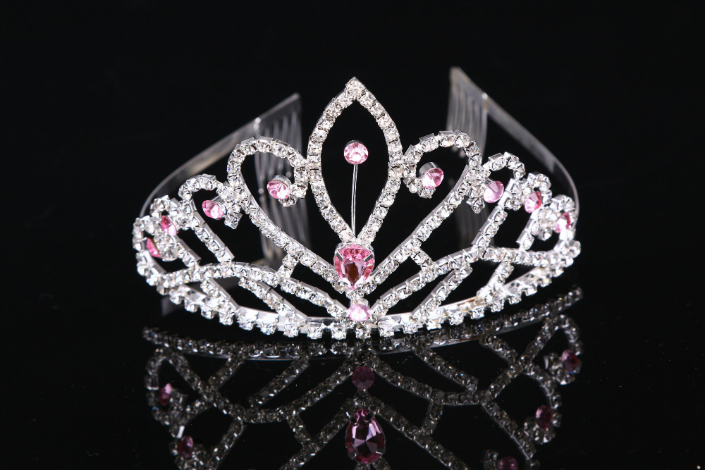 Wholesale and custom holiday Pink pageant crowns