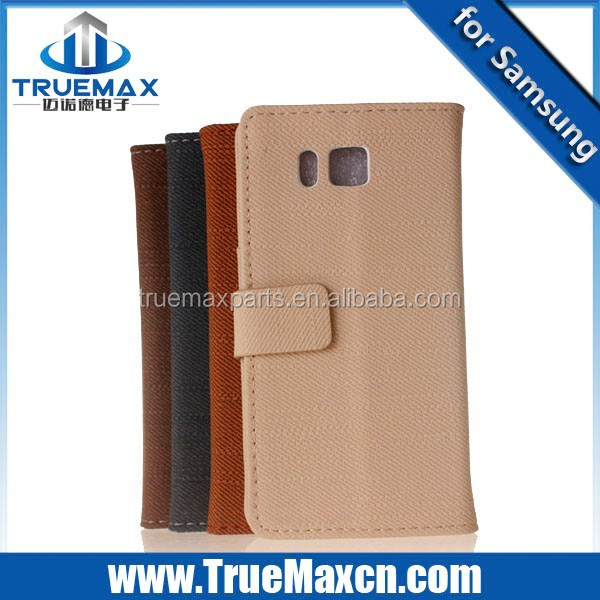 Hot Sale for Samsung Alpha Jeans Cloth Tpye Leather Case
