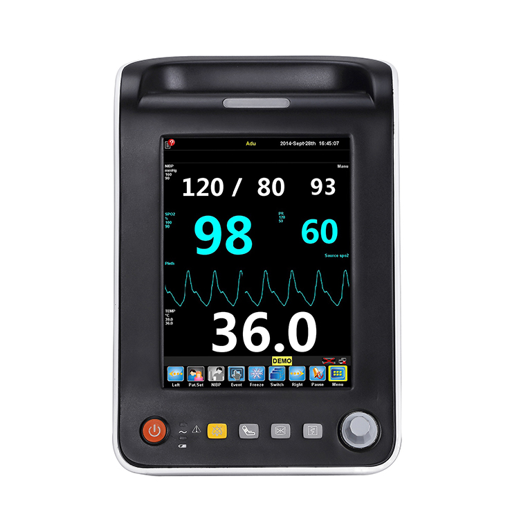 "7"" Portable Multi Parameter Patient Monitor with CE/ veterinary monitor"