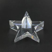Hot Sale Business Gift Star Shaped Crystal Glass Paper Weight /Crystal Star Paperweight