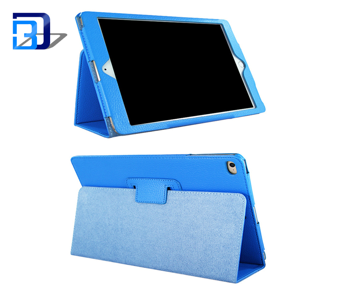 Hot selling products 360 degree ultra thin flip cover leather tablet case for iPad air 2