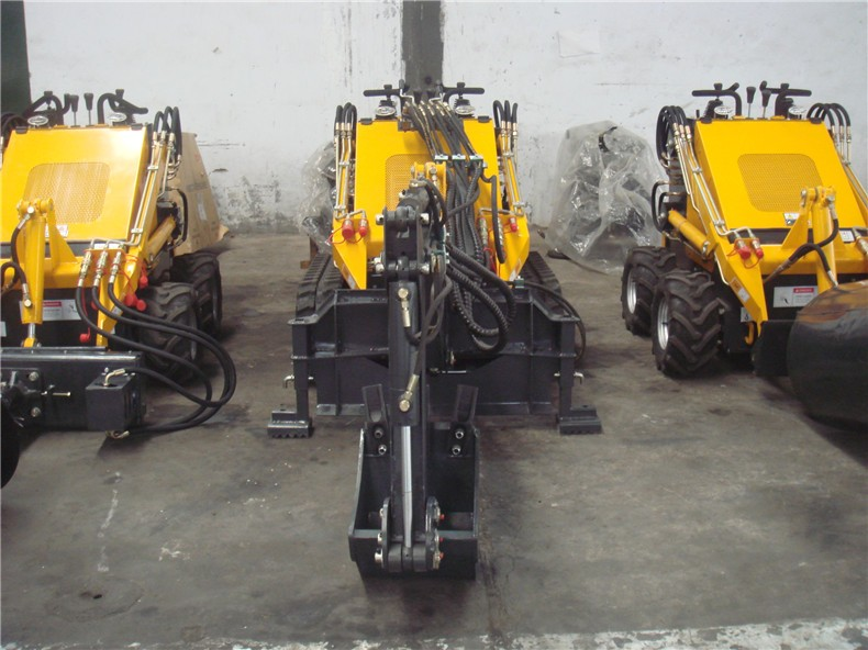 farm machinery tractor equipment HY380 skid loaders with digger