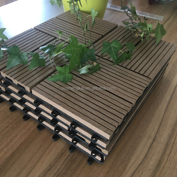 WOOD PLASTIC COMPOSITE DECKING BOARD FLOORING 300*300MM HOLLOW
