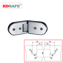Adjustable stainless steel glass to glass clamp, shower glass door hinge