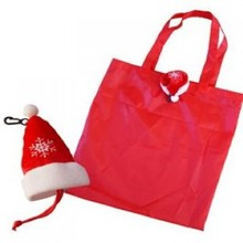 Christmas hat eco shopping bag/recycled shopping bag