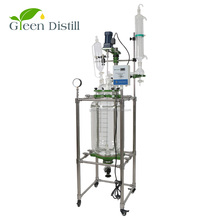 50L lab polymerization glass reactor for biodiesel