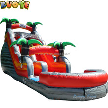 18ft Tropical Lava Rush Inflatable pool slide