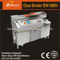 18 Year CE ISO Boway auto side 297 x 420 mm a3 hotmelt glue binding machine