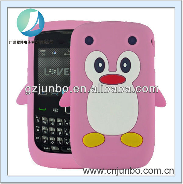 cute silicon cartoon penguin animal Case for Blackberry Curve 9220 9320