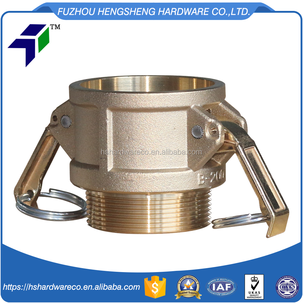 High quality hose camlock fitting type e, brass hose camlock quick coupling manufacturer