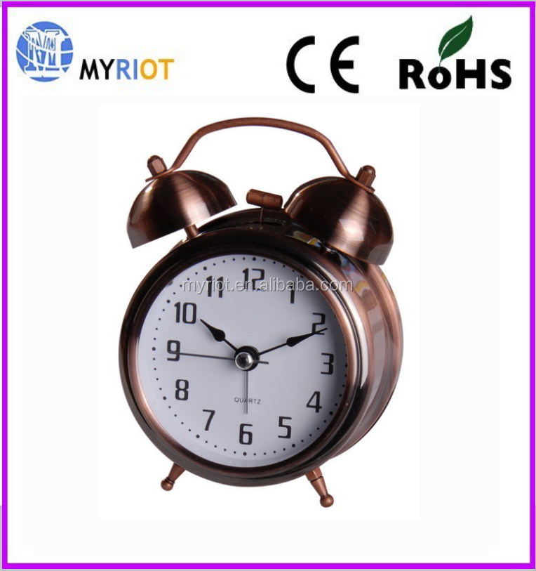 Table clock Quartz Analog Twin Bell Alarm Clock