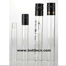 50ml 60ml 100ml emptying test tube samplers glass tube for wine with silver/black screw cap