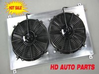 Aluminum Auto Car Radiator Shroud Fan For SUBARU IMPREZA WRX STI GC8 Ver:3-6 2.0L EJ20 TURBO 96 97 98 99 00