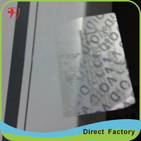 warranty VOID stickers / once removed the sticker, total tampered letter with high vision total transfer to the objects