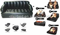 EN71 PVC durable inflatable 5 in 1 air sofa 2 in 1 sofa