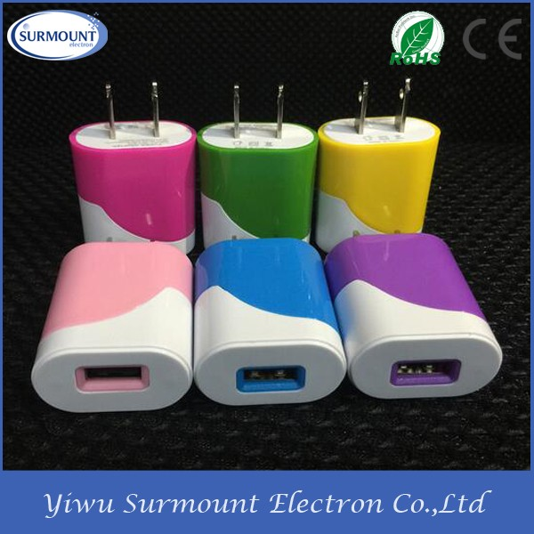5V1A USB unique designed foldable wall charger universal for cell phone