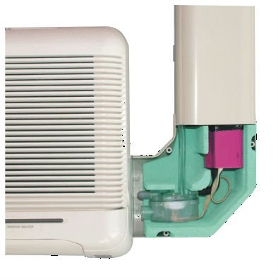 Air conditioner condensate pump drain pump with trunking
