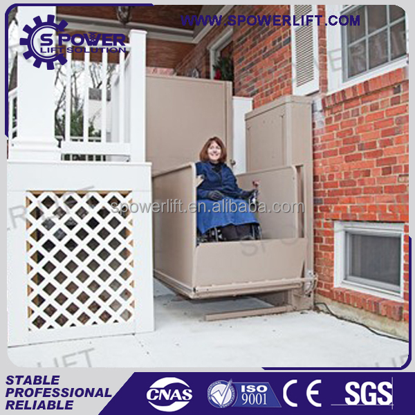 Good quality outdoor vertical stair electric hydraulic wheelchair lift for disabled people