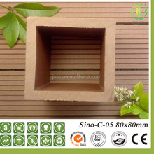 Wpc hollow post hollow wood post round wood fence posts for sale Sino-C-05